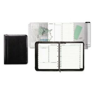 Day timer Aristo Slim Bonded Leather Starter Set 8 5 X 11 Black dtm84431