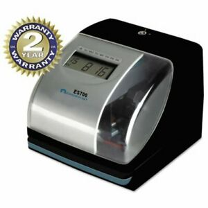 Acroprint Es700 Digital Automatictime Recorder Silver And Black acp010182000