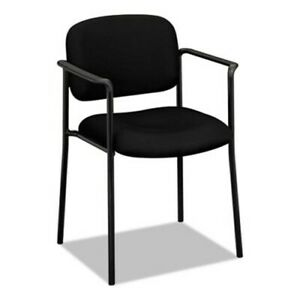 Basyx Stacking Guest Chair With Arms Steel Black bsxvl616va10