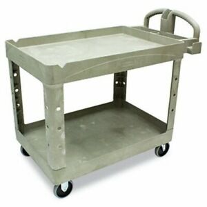 Rubbermaid 452088 Heavy Duty 2 shelf Utility Cart Beige rcp452088bg