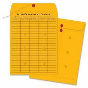 Business Source Envelopes str button 32lb 10 x13 100 box Kraft bsn04545