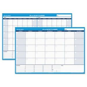 At a glance 30 60 day Undated Erasable Wall Planner 48 X 32 aagpm33328
