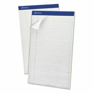 Ampad Perforated Top Legal Rule White 50 sheet Pads pack Dozen top20330