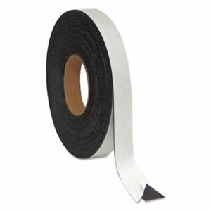 Mastervision Magnetic Adhesive Tape Roll 1 2 X 50 Ft Black bvcfm2321