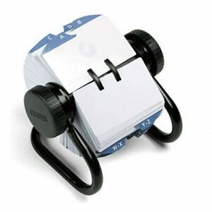 Rolodex Open Rotary Card File Holds 500 2 1 4 X 4 Cards Black rol66704