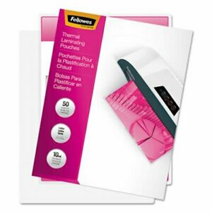 Fellowes Laminating Pouches 10 Mil 11 1 2 X 9 50 pack fel52042