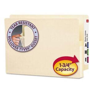 Smead 1 3 4 Expanding File Folders Legal Manila 25 Folders smd76114