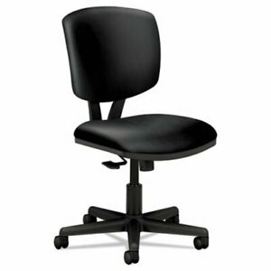 Hon Volt Series Task Chair With Synchro tilt Black Leather hon5703sb1