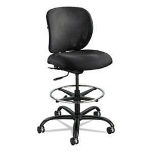 Safco Vue Heavy duty Extended Height Stool Black Back base seat saf3394bl