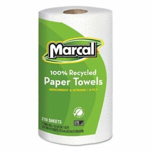 Marcal 6210 Kitchen 2 ply Paper Towel Rolls 12 Rolls mrc6210