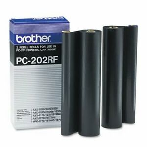 Brother Pc202rf Thermal Transfer Refill Rolls Black 2 pack brtpc202rf