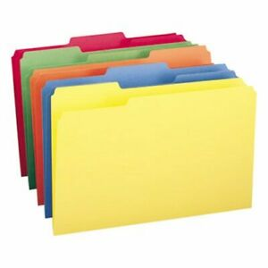 Smead File Folders 1 3 Cut Top Tab Legal Assorted Colors 100 box smd16943