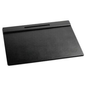 Rolodex Wood Tone Desk Pad Black 24 X 19 rol62540