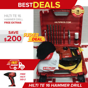 Hilti Te 16 Preowned Original With Free Bits Hat Extras Fast Ship