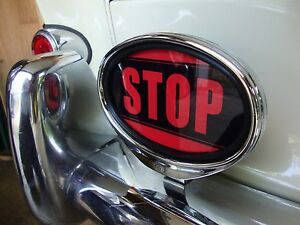 Stop Light Sign Illuminated Sign Brake Light For Porsche Vw Hotrod Ford Aac119