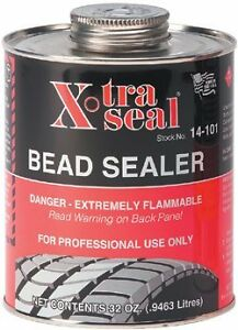 5 Day Sale Xtra Seal Tire Bead Sealer 32 Oz Black W Brush Top Can Pro Quart
