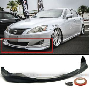 For 06 07 08 Is250 Is350 F Sport Style Pu Front Bumper Chin Lip Body Kit