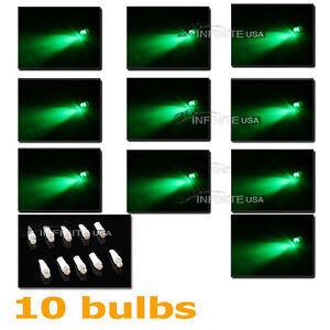 10 X Bulbs T5 Instrument Cluster Panel Gauge Dash Led Bulbs Light green Color