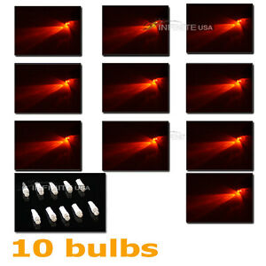 10 X Bulbs T5 Instrument Cluster Panel Gauge Dash Led Bulbs Light red Color