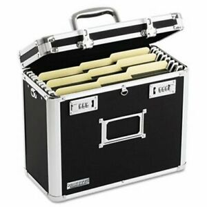 Locking File Tote Storage Box 13 3 4 X 7 1 4 X 12 1 4 Black idevz01187