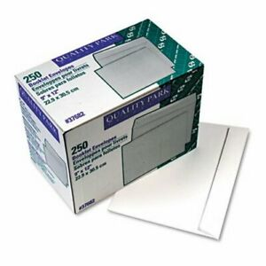 Quality Park Open Side Booklet Envelope 12 X 9 White 250 Per Box qua37682