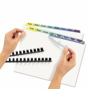 Avery Index Maker Clear Label Color Dividers 8 tab 25 Sets Per Pack ave11999