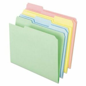 Ampad Color File Folders 1 3 Cut Top Tab Assorted 100 Per Box pfxc2113pasr