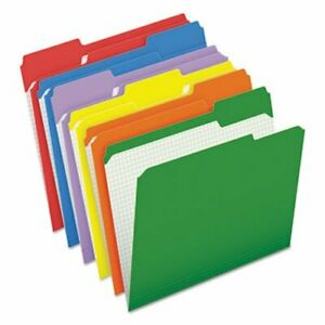 Pendaflex File Folders 1 3 Cut Tab Letter Assorted 100 box pfxr15213asst