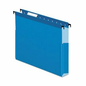 Pendaflex Hanging 2 Expansion Folders With Sides Blue 25 Per Box pfx59202