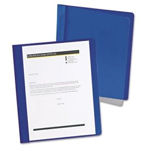 Oxford Clear Front Report Covers Letter Size Blue 25 Per Box oxf5354023x