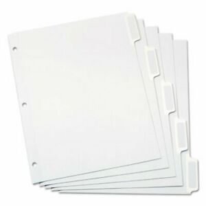 Oxford Dividers Self stick Tab Labels 5 tab Letter White 25 Sets oxf11314