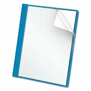Clear Front Report Cover Letter 1 2 Capacity Blue 25 Per Box oxf55801