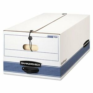 Bankers Box file Storage Box Legal String And Button 4 carton fel0070503