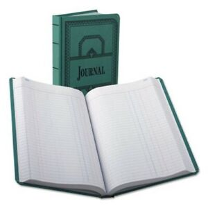 Record account Book Journal Rule Blue 500 Pages 12 1 8 X 7 5 8 bor66500j