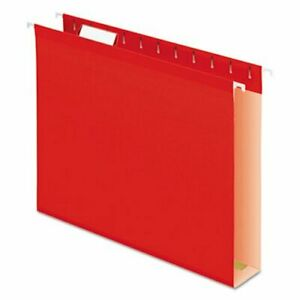 Pendaflex 2 Capacity Hanging Folders Letter Red 25 box pfx4152x2red