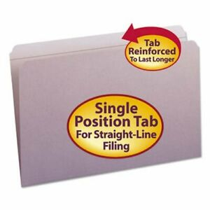 Smead File Folders Straight Cut Top Tab Legal Lavender 100 box smd17410