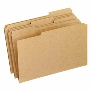 Pendaflex 2 ply File Folders 1 3 Cut Tab Legal Brown 100 box pfxrk15313