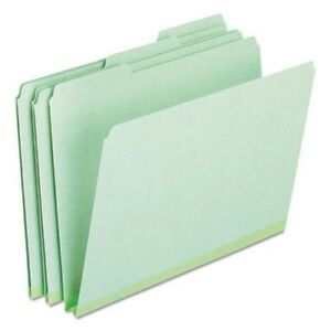 Pressboard Expanding File Folders 1 3 Cut Tab Letter Green 25 box pfx17167