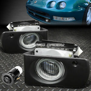 For 94 97 Acura Integra Dc Dc2 Front Bumper Fog Light Lamp W Bezel Switch Clear