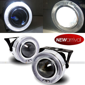 For Eclipse 3 White Halo Projector Bumper Driving Fog Light Lamp Kit Set