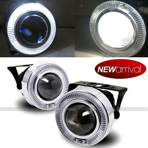 For Dakota 3 White Halo Projector Bumper Driving Fog Light Lamp Kit Set