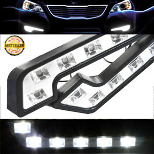 Waterproof Daytime Running Light Kit Mercedes Benz L Shape Euro 6led Drl 12v For