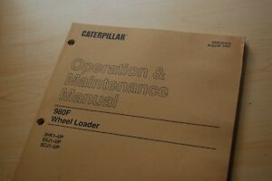Cat Caterpillar 980f Wheel Loader Operation Maintenance Operator Owner Manual