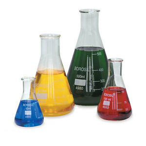 Glass Erlenmeyer Flasks 250ml 12 Pk