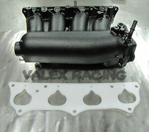 Honda Rbc Pre Modified Intake Manifold Black Powder Coated W Thermal Gasket