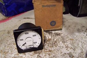 New Westinghouse 291b461a27 Ac Amp Panel Meter Type Ka 241 Range 0 800 Amps