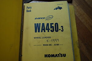 Komatsu Wa450 3 Front End Wheel Loader Parts Manual Book Catalog Avance 1999 Oem