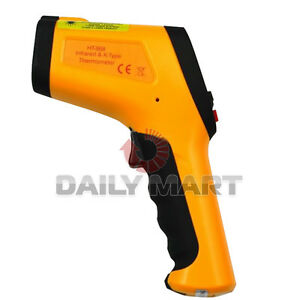 Mini Digital Ir Infrared Thermometer Ht 866 With Type K Input Non Contact New