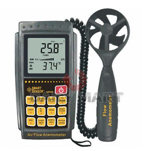 Smart Sensor Ar856 Air Flow Anemometer Infrared Temperature Usb Transmission New