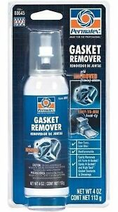 Permatex 80645 Foaming Gasket Remover 4oz Power Can With Brush Top
